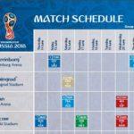 2018FIFAワールドカップ ロシア 基本情報(試合日程)